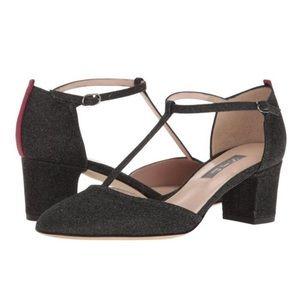 ❄️ SJP Glitter T- Strap Heels ❄️